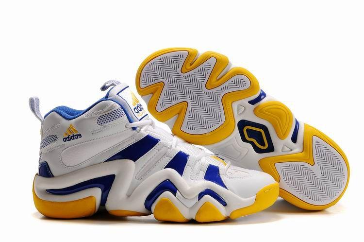 Crazy 8 Adidas Basketball Shoes Yellow Royal Blue
