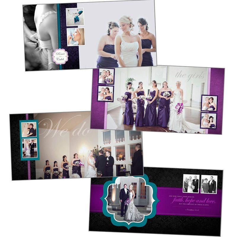 10x10 Romance Wedding Album Template for by TarynOwenCreative ...