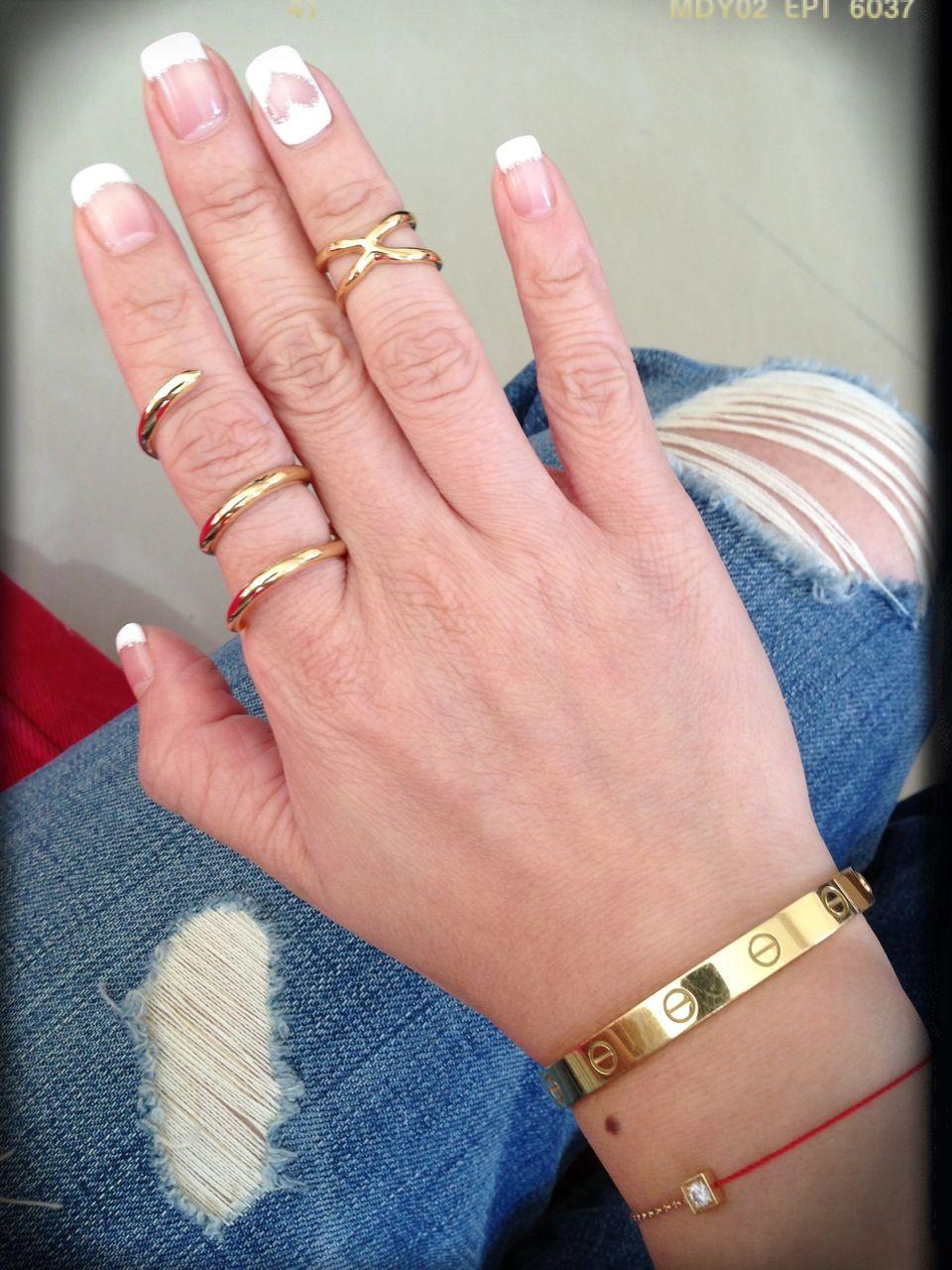 Nail ring, Cartier love and redline bracelet | My Style | Pinterest ...