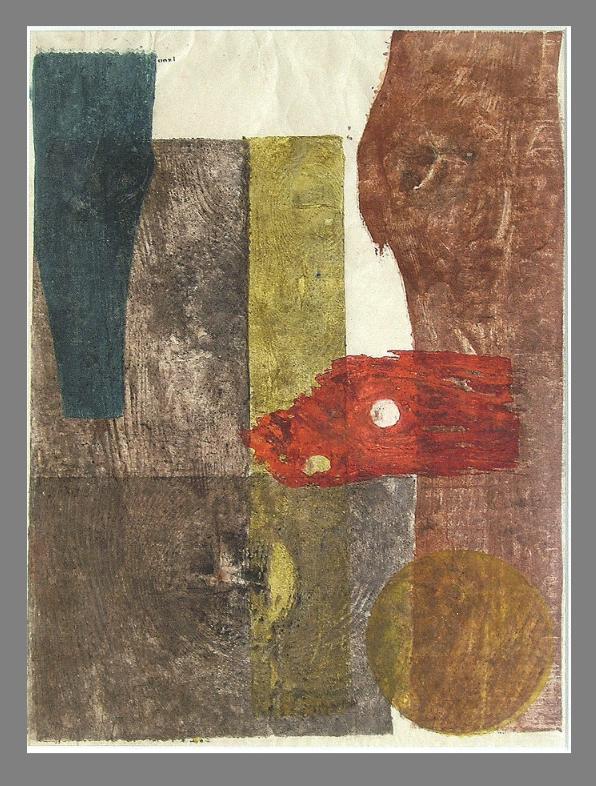 Koshiro Onchi, Lyric No. 32, 1955, woodblock print