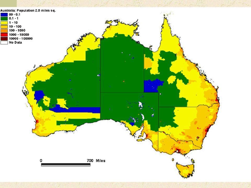 Density Map Of Australia - Australia population density map 2015