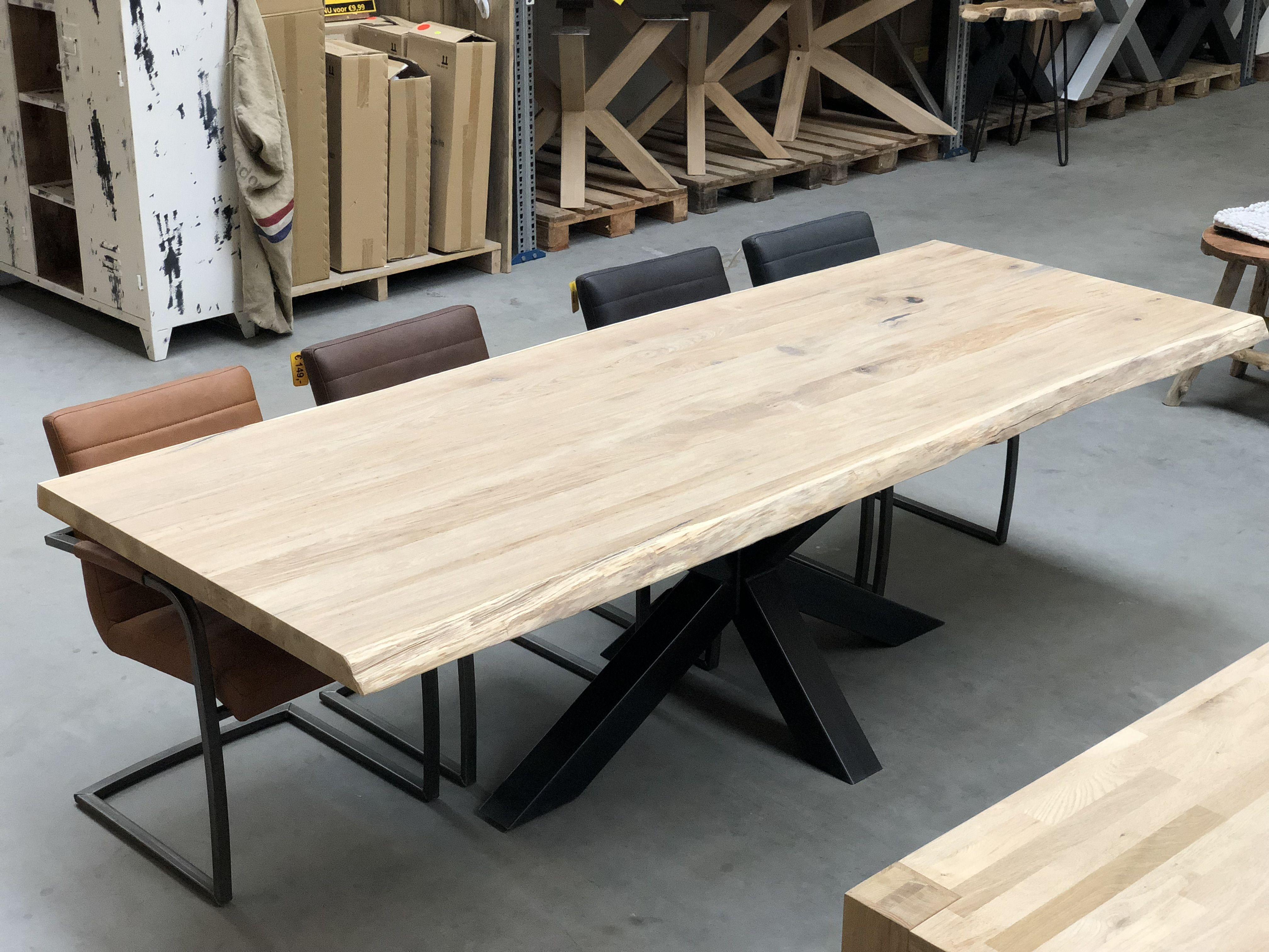 Goede Deze prachtige tafel bestaat uit een stalen spinpoot ( kokerdikte QG-03