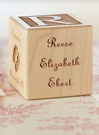 The perfect baby gift a personalized wooden block baby life pottery barn kids gift guide makes it easy to select the personalized baby gifts get baby gifts personalized and give a gift thoughtful negle Images