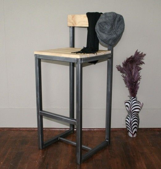 handmade metal bar stool this is a great bar stool out of steel and the