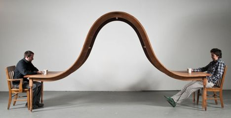 10ft Long Table For Two By Michael Beitz Sculptural Furniture