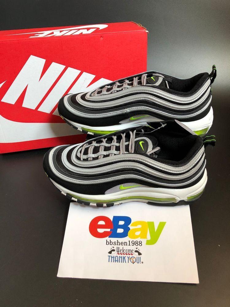 New Nike Air Max 97 Japan Og 921826 004 Black Volt Metallic Silver Nike Athleticsneakers Nike Air Max Nike Air Max 97 Nike Air