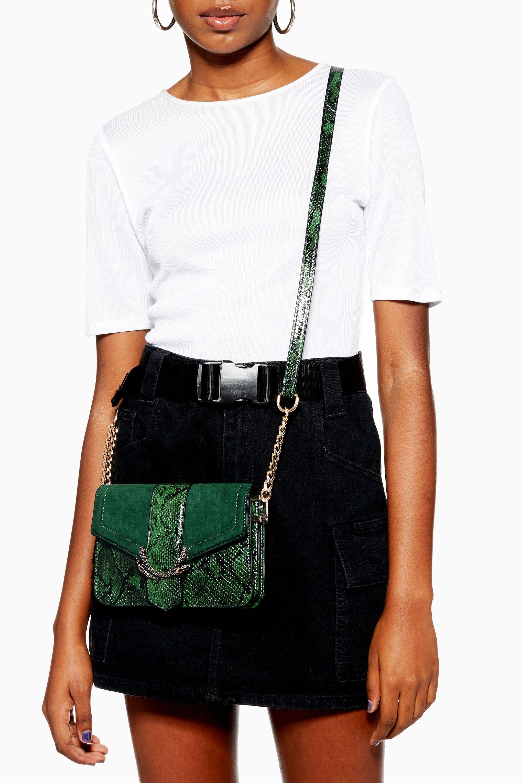 cba4d2f55ff Sela Snake Print Cross Body Bag   Topshop   Bags in 2019   Bags ...