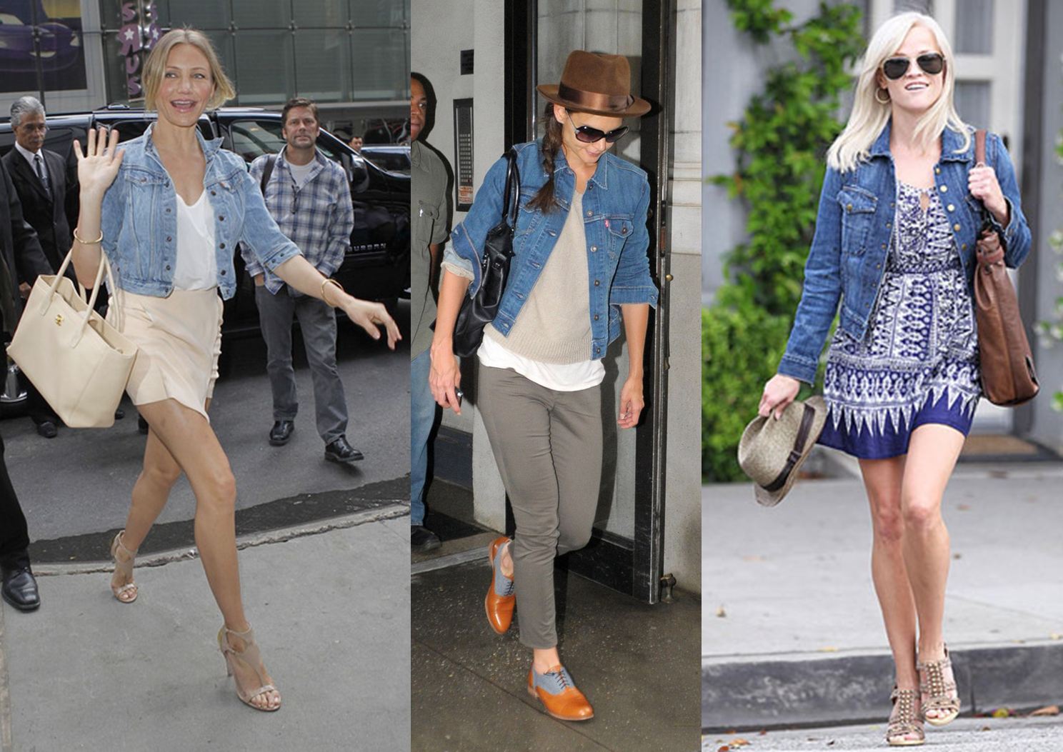 celebrities in denim jackets.png (1488×1053) | little denim jacket ...