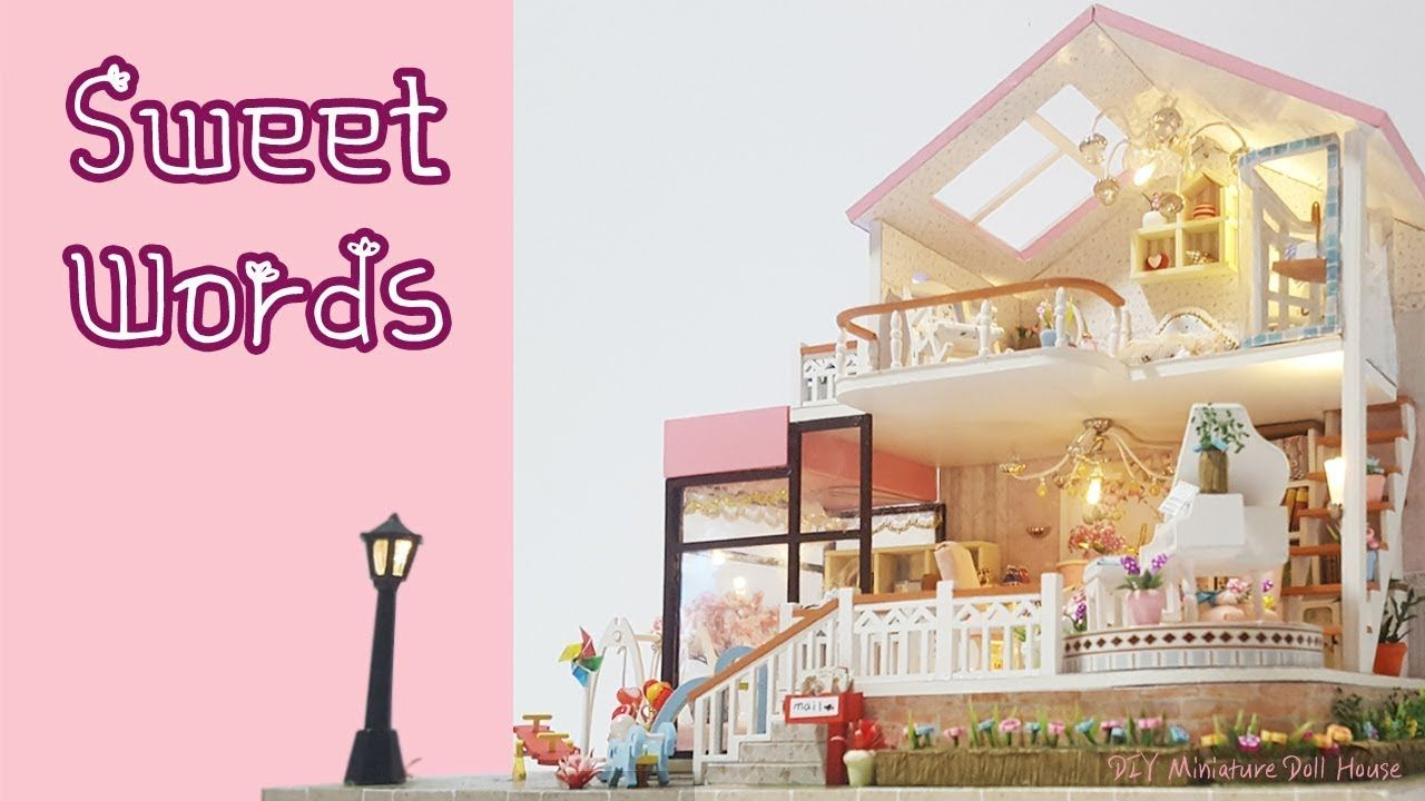 [DIY Miniature]핑크 스윗홈 미니어쳐ㅣ sweet words ㅣDollhouse kit ㅣ