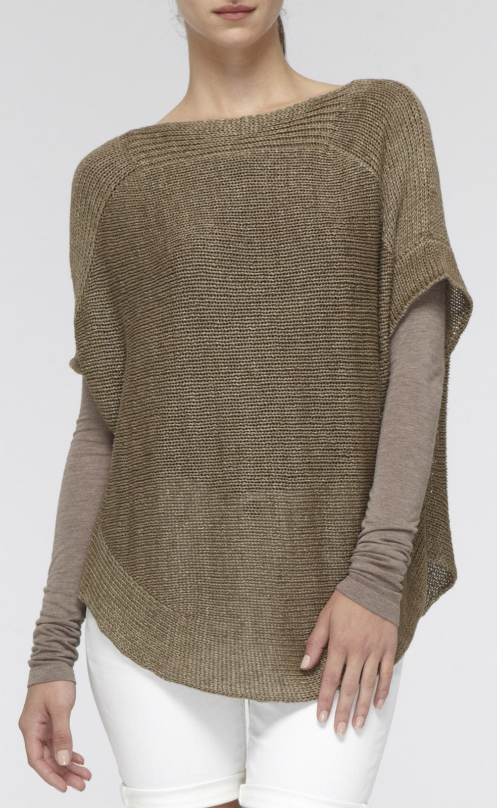 Short-Sleeve Linen Boatneck Sweater | Vince | Guild Retreat ...