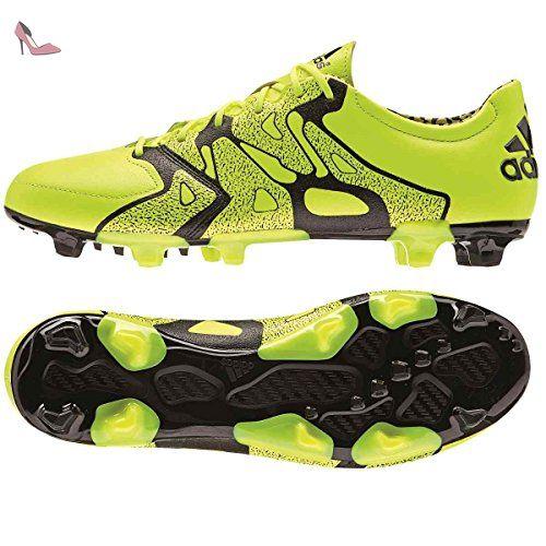 Adidas X15.2 FGAG Leather Fussballschuhe solar yellow solar