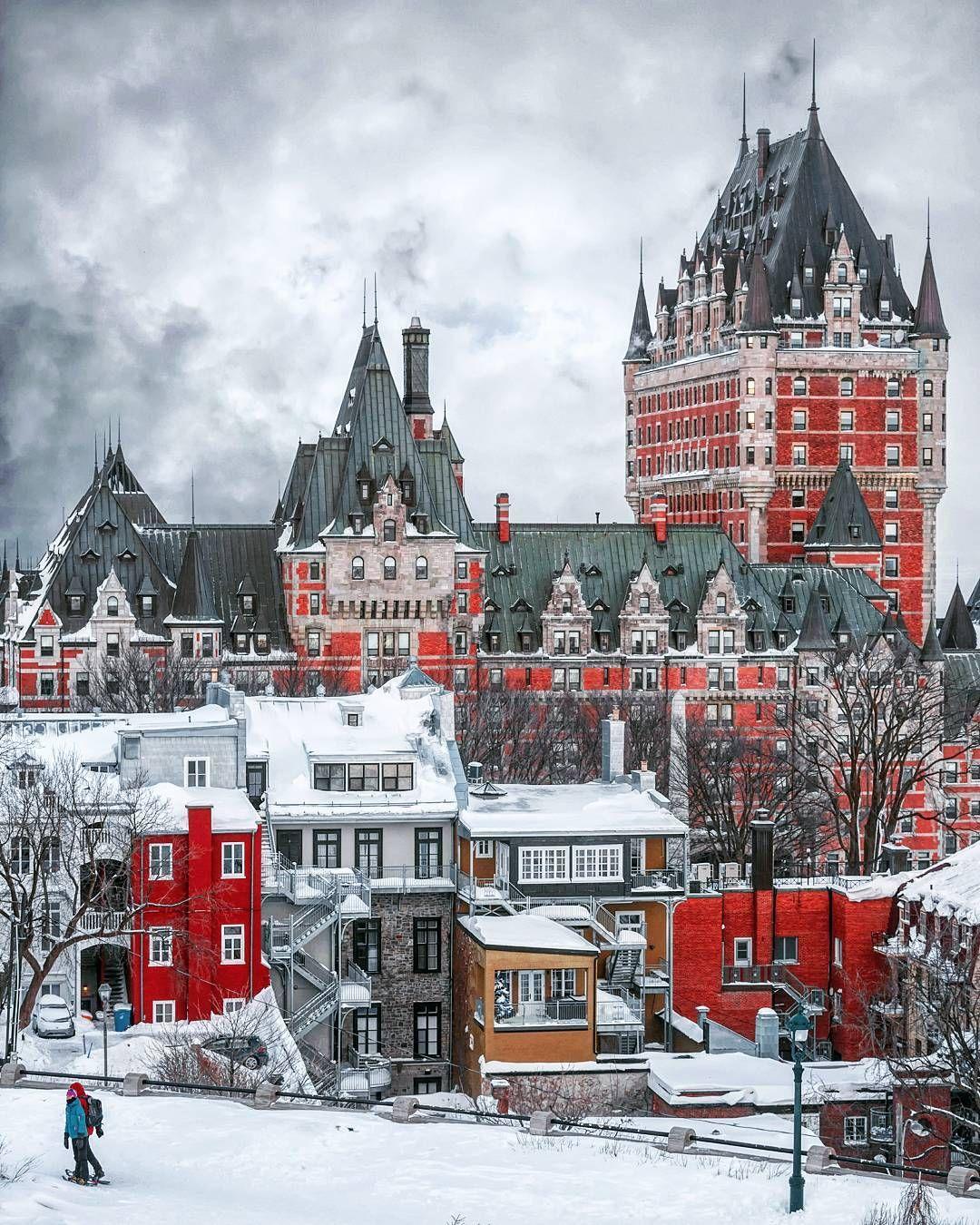 Fairmont Le Chateau Frontenac Quebec City Quebec By Emmanuel Coveney Manucoveney On Instagram Quebec City Canada Quebec City Quebec City Winter