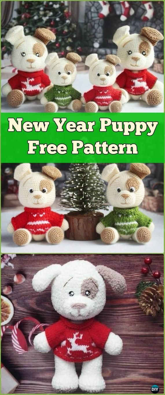 DIY Crochet Amigurumi Puppy Dog Stuffed Toy Free Patterns | Häkeln ...