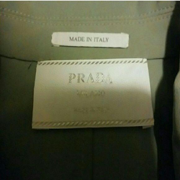 Authentic Prada seafoam jacket Authentic Prada seafoam jacket size 40 (medium/large) NWOT. Never been worn. Adjustible cuffs and waistline. Prada Jackets & Coats
