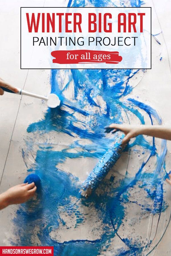 Creative All Ages Winter Big Art Painting Project