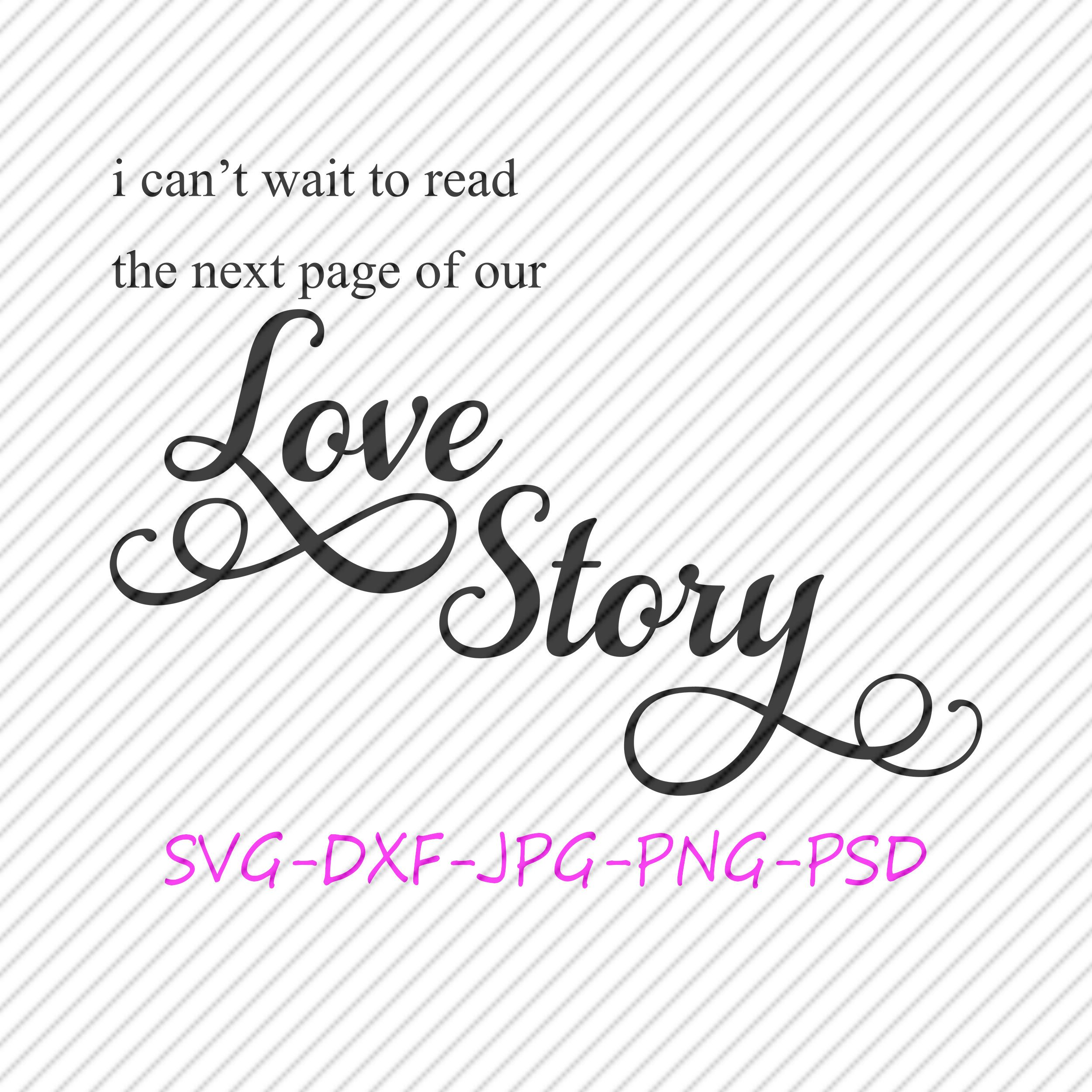 Download Our Love Story SVG Cricut Silhouette Digital Download in ...