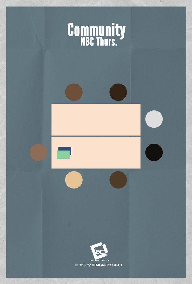 Community 2009 Minimal Tv Series Poster By Chadski51