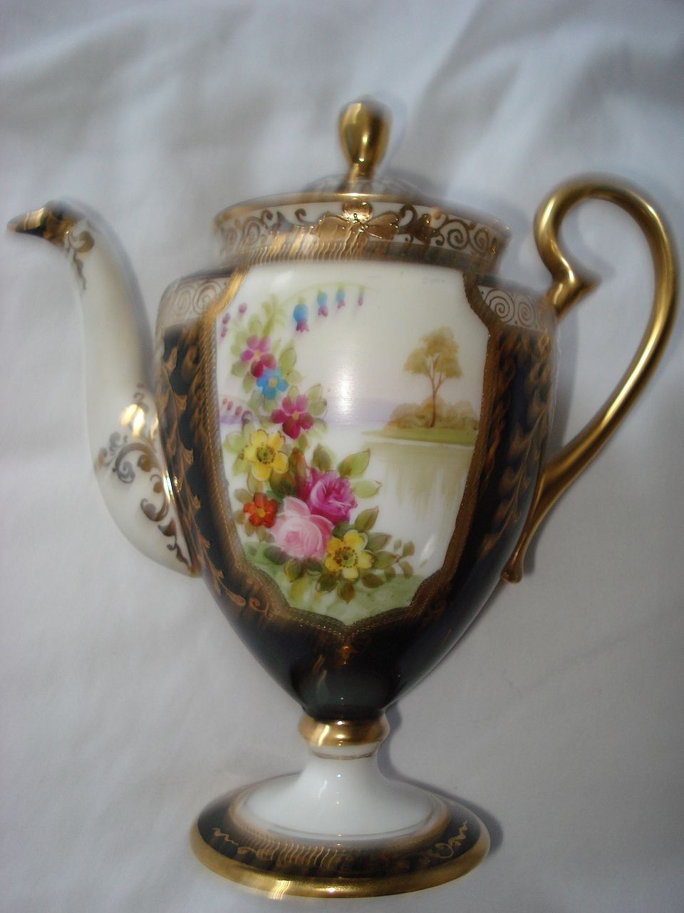 Vintage Nippon Japanese Hand Painted Tea Pot from antiques4u on Ruby Lane
