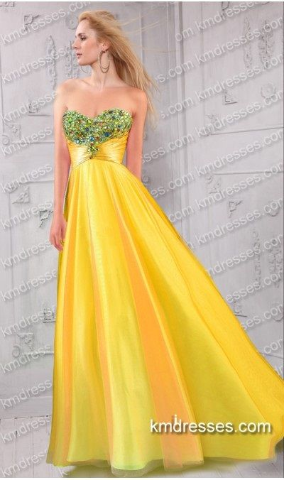 Aluring beaded strapless sweetheart pleated wrap waist Seventeen Prom gown Orange & Yellow Dresses  http://www.IkmDresses.com/Aluring-beaded-strapless-sweetheart-pleated-wrap-waist-Seventeen-Prom-gown-p59488