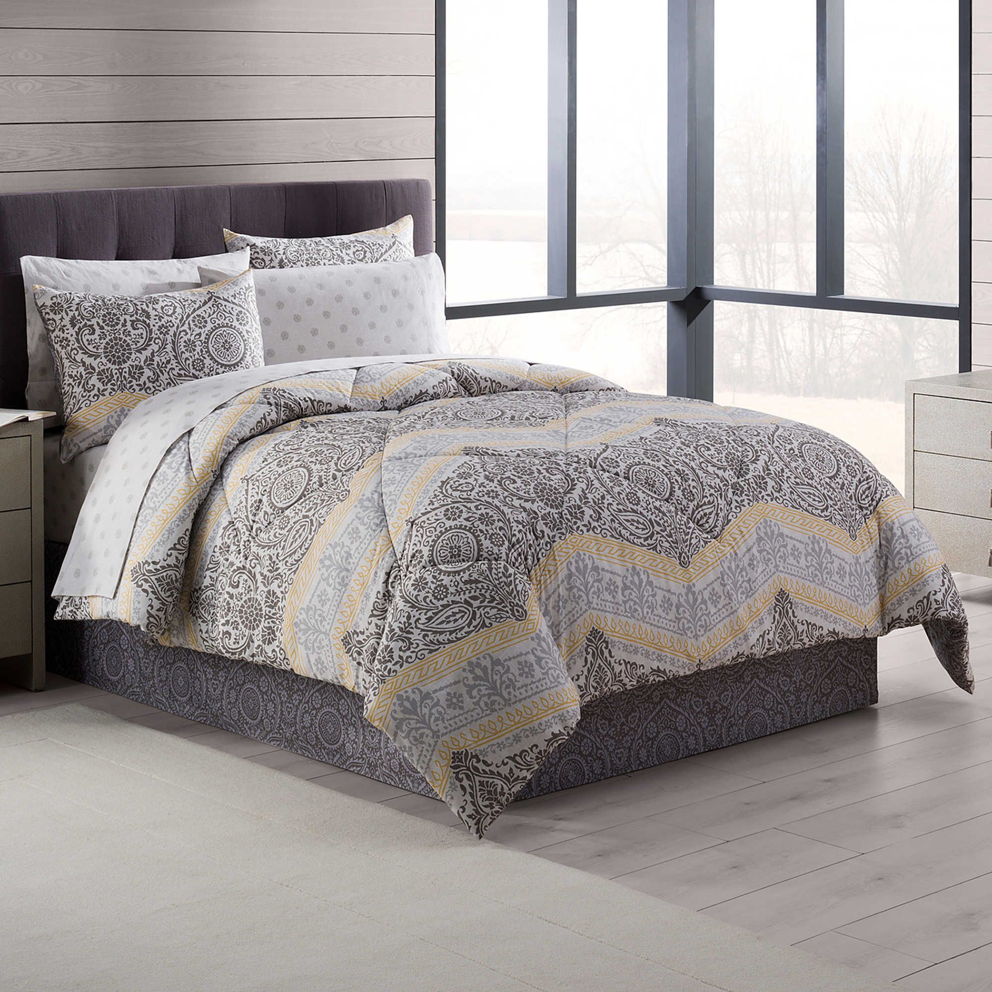 modern bedding comforter bedroom pop that will young make queen grey chevron yellow gray and your