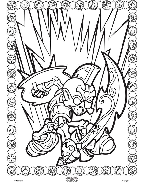 Color Alive Skylanders - Chop Chop on crayola patterns - new giant coloring pages crayola