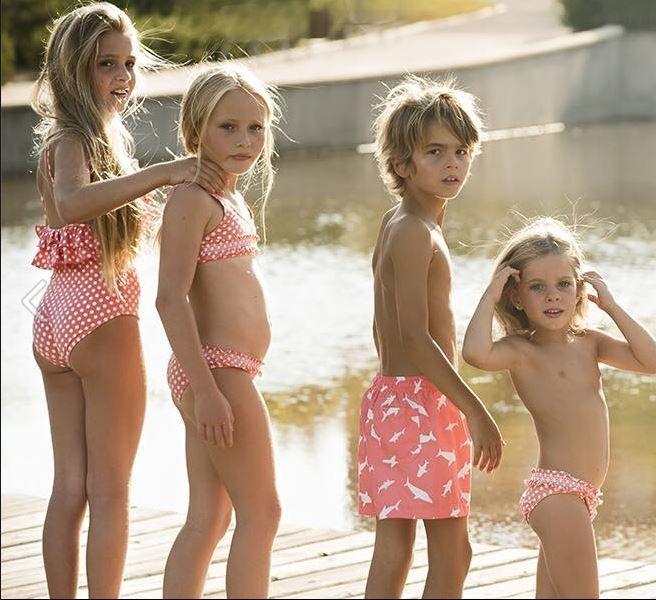 db426ecf5ca8f Colección coral de Tucana Kids Swimwear Fashion