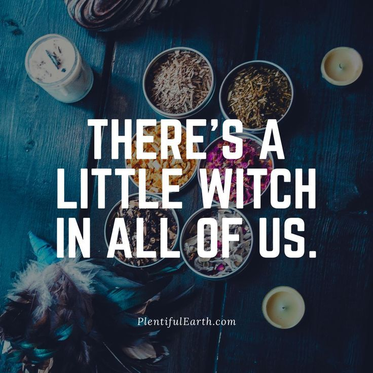 There's a Little Witch in All of Us Quote » Plentiful Earth