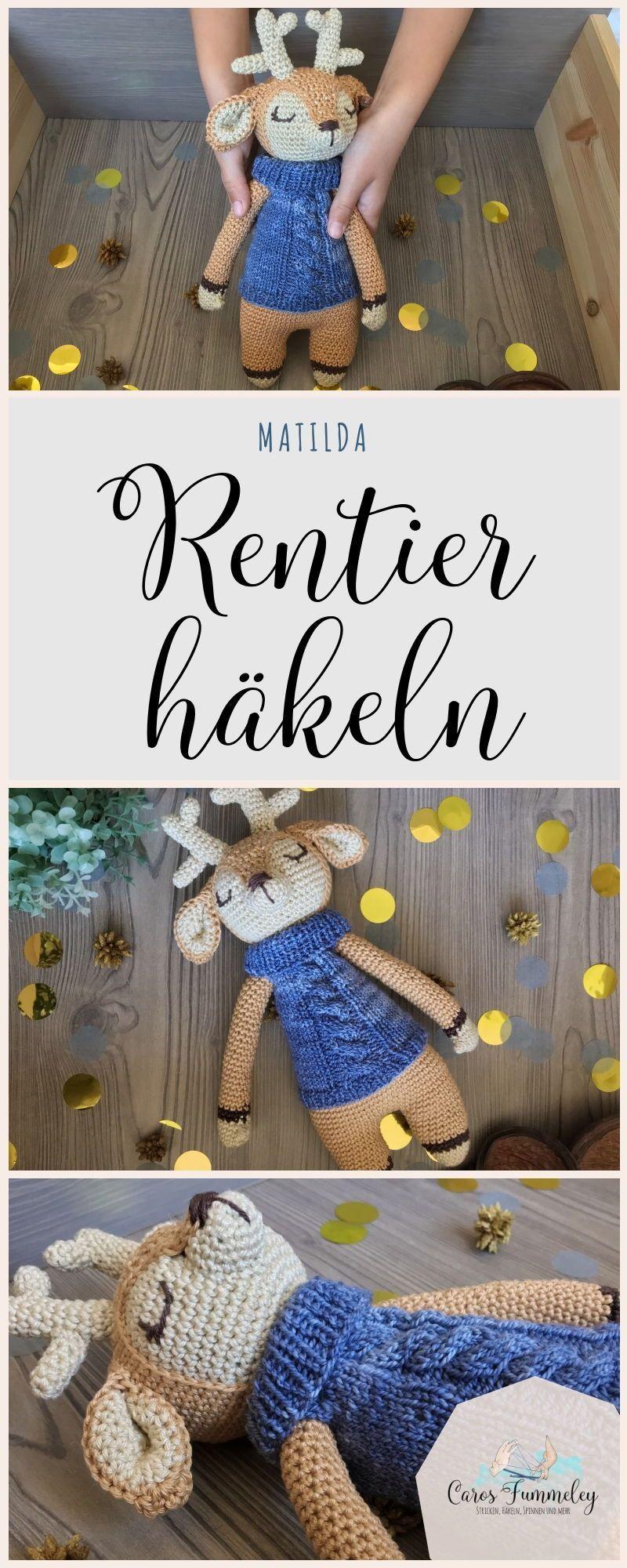 Photo of Rentier häkeln – deutsche Amigurumi Anleitung für ein gehäkeltes Kuscheltier …