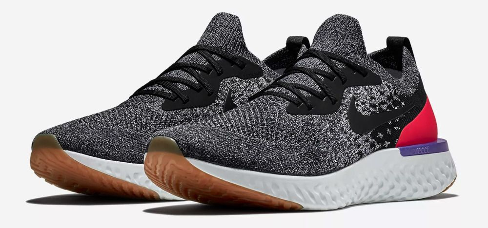 premium selection c9a68 e1dfd Nike Epic React Flyknit Black White Hyper Crimson Sizes 9-15 Mens  AQ0067-006  Nike  AthleticSneakers