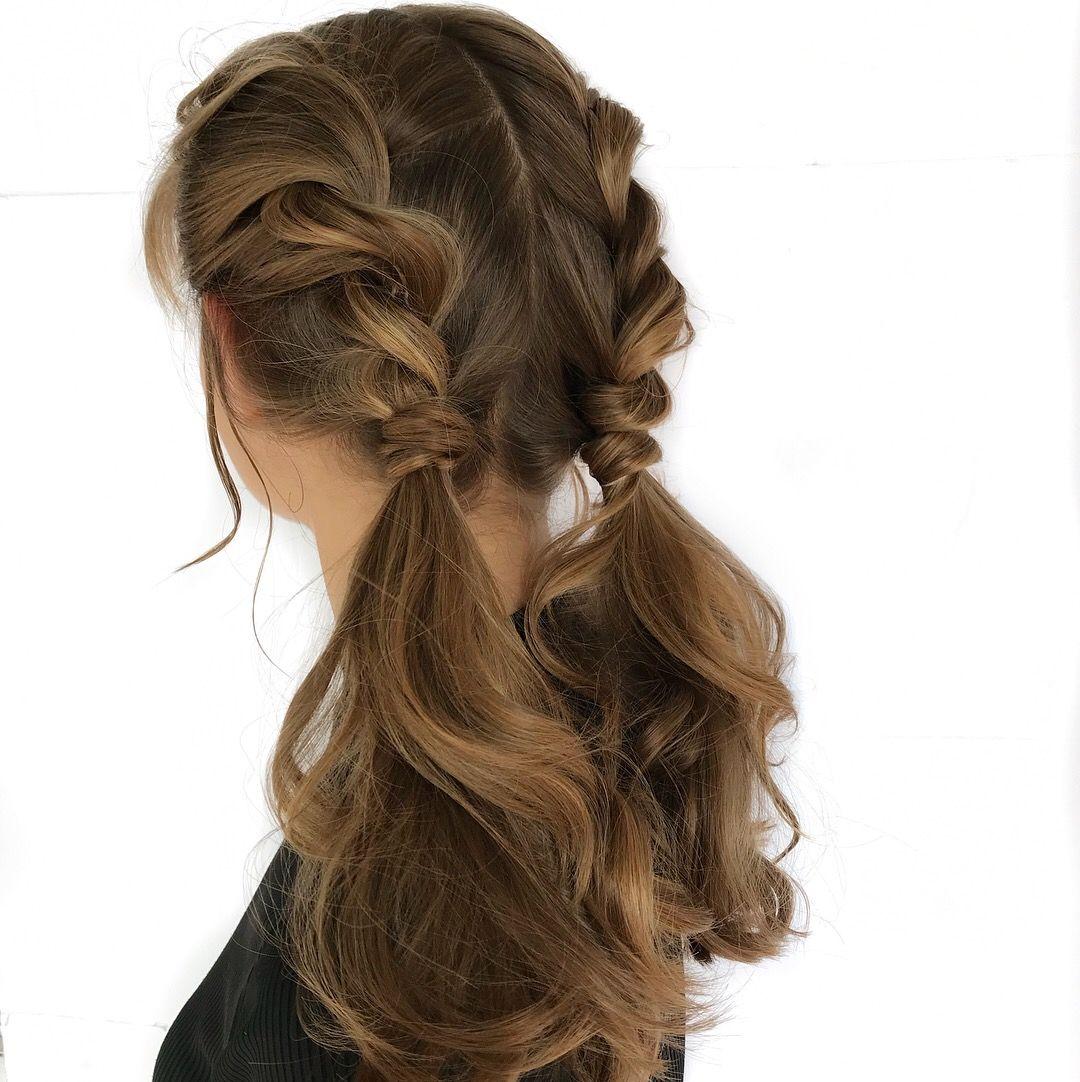 Rope Braid Pigtails By Catherineellle Braided Hairstyles Pigtail Hairstyles Medium Hair Styles