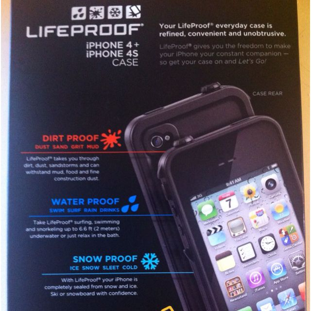 LifeProof iPhone case. At last I can tweet in the shower.