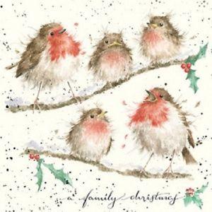 Wrendale Christmas Card Robins A Family Christmas To