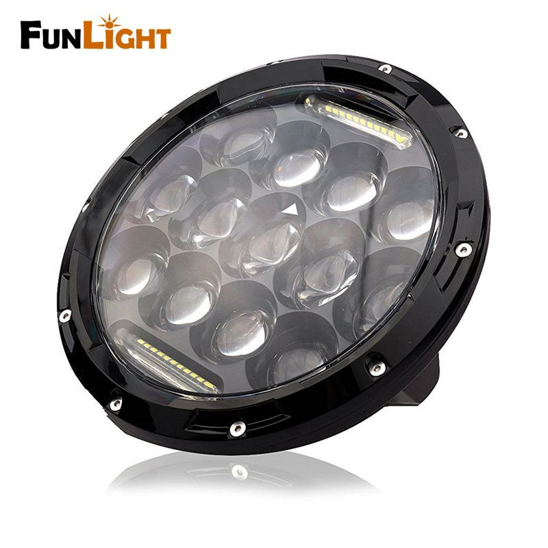 Black 7 Inch Round Led Headlight Assembly With Dlr Light Super Bright Leds For Jeep Wrangler Jk Tj Fj Trucks Car Headlights Car Led Motorcycle Accessories