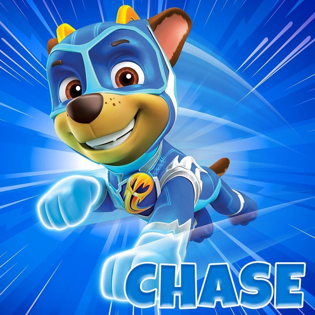Paw Patrol On Instagram Mighty Chase His Super Speed Makes Him The Fastest Pup In All Of Adventu Paw Patrol Super Pup Paw Patrol Birthday Paw Patrol Cartoon