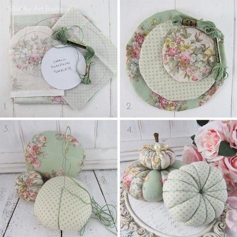 DIY– Shabby Fabric Pumpkins