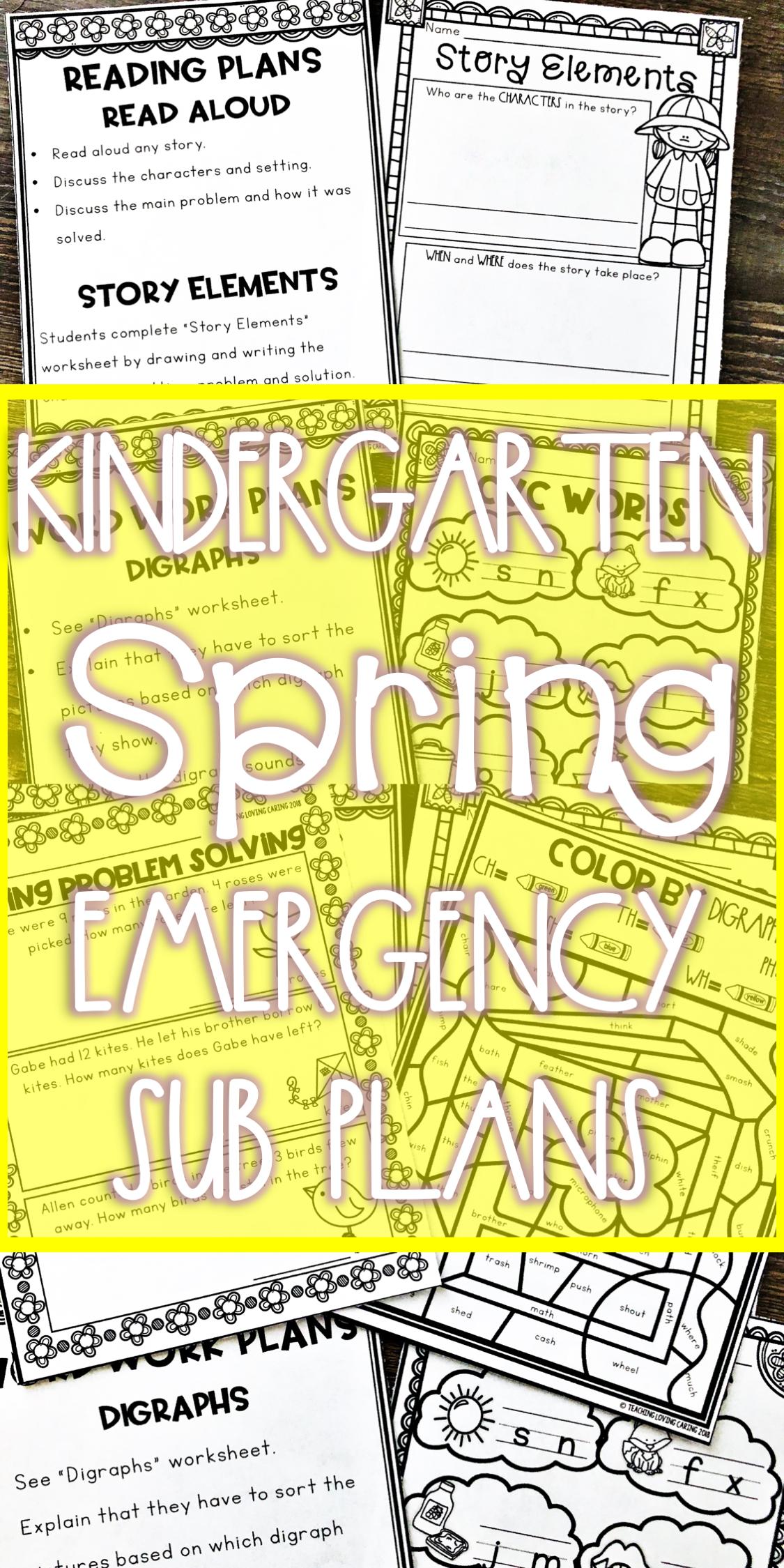 Spring Emergency Sub Plans