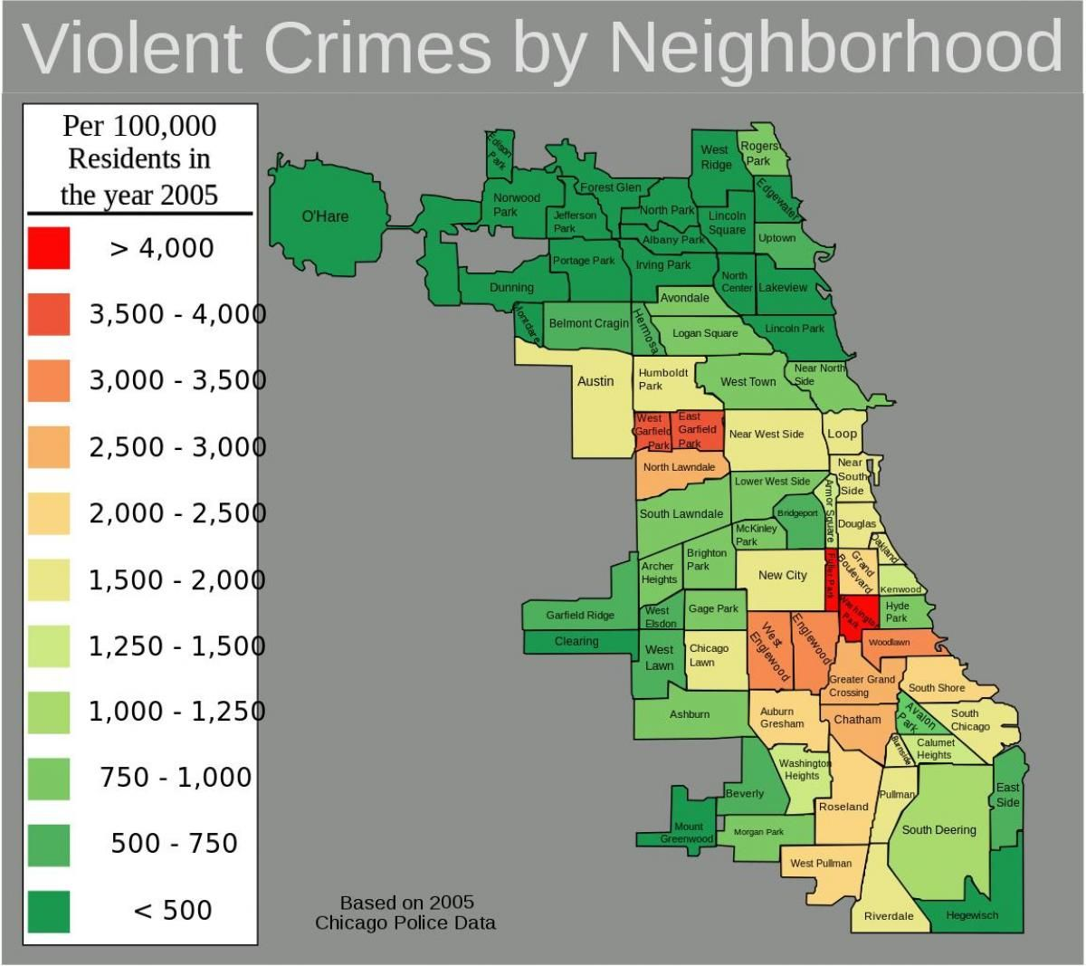 Areas To Avoid In Chicago Map 2020 bad areas of Chicago map | Chicago map, Chicago neighborhoods map