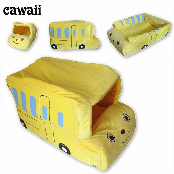 Dog Supplies Cat Bed Bus Sofa House Kennel Pens Bed For Puppy Portable Free Ship…