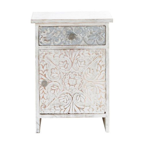 commode indienne blanche