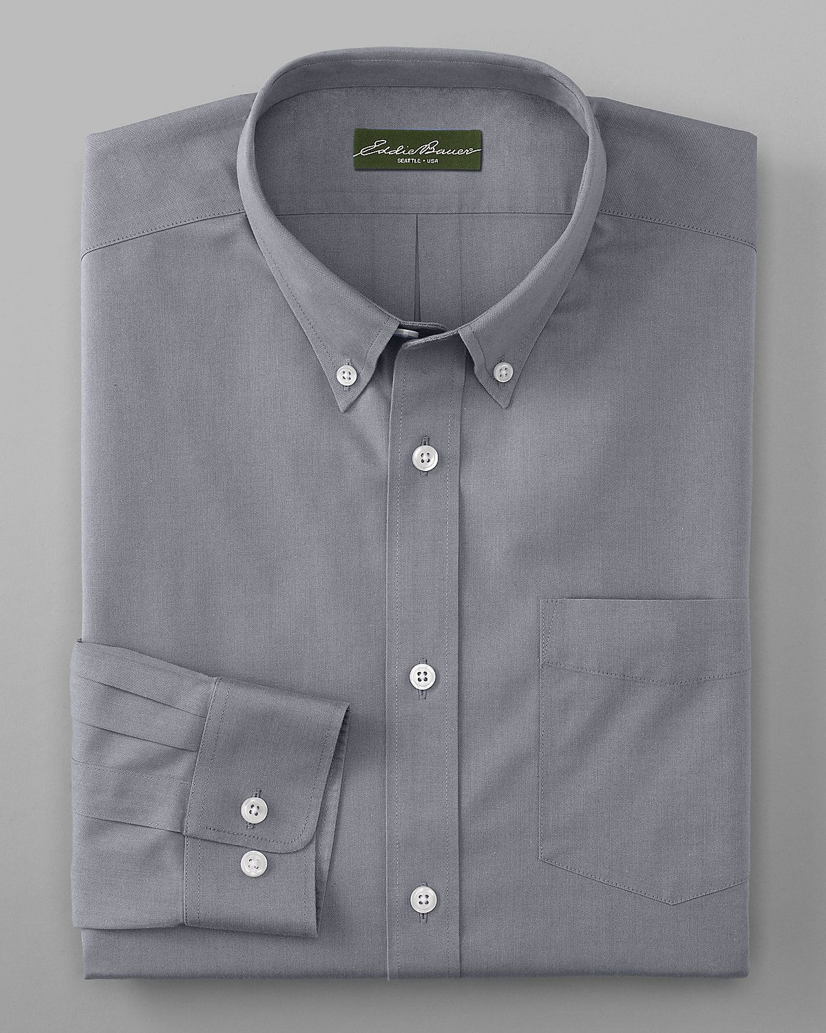 be3c96b4b5 Men s Wrinkle-free Relaxed Fit Pinpoint Oxford Shirt - Solid Long-sleeve