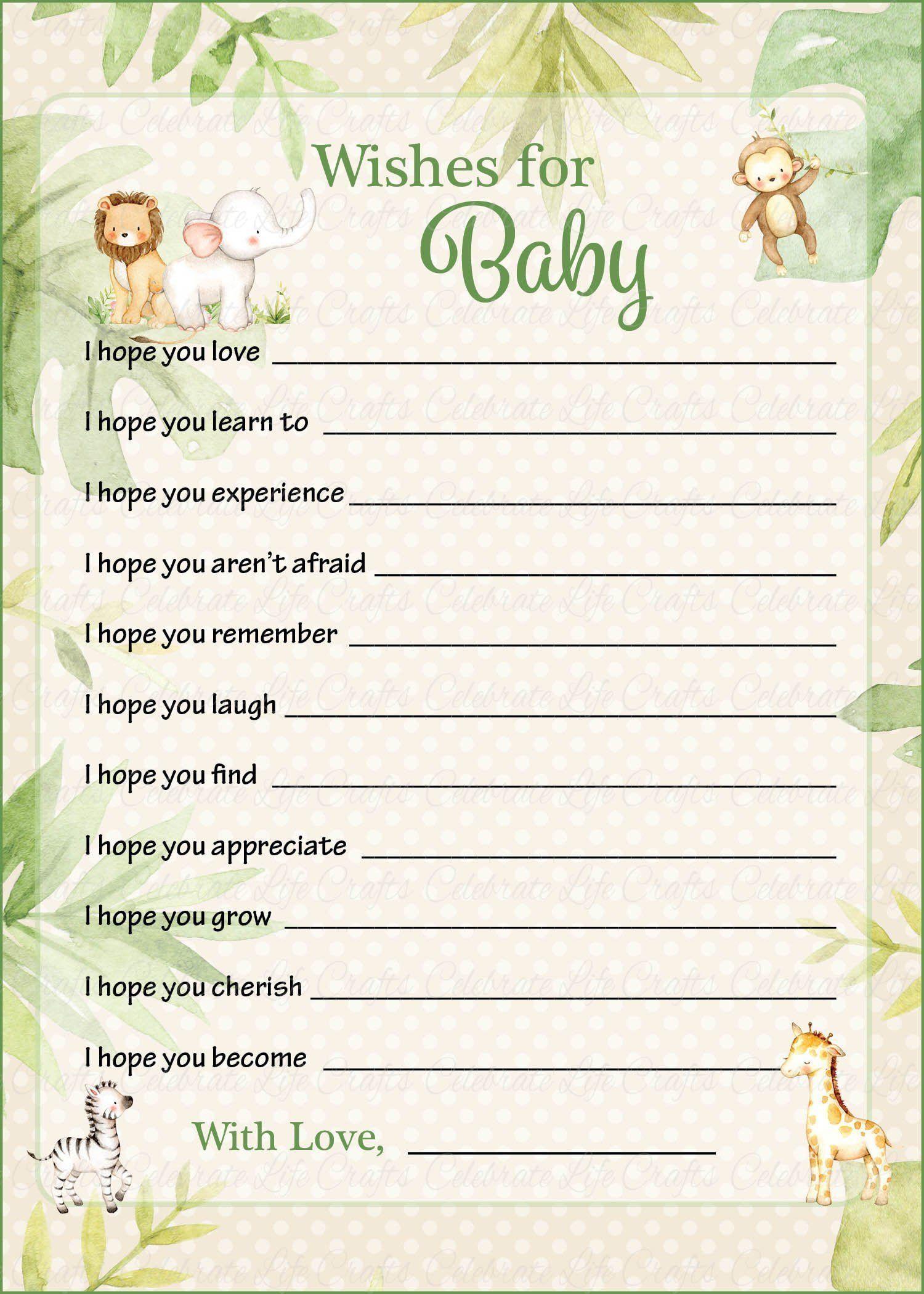 Baby Shower Karte