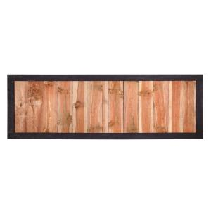 4 Ft H X 8 Ft W Pressure Treated Redwood Tone Loveland Pine Fence Panel 216932 The Home Depot Wood Fence Fence Panels Outdoor Essentials
