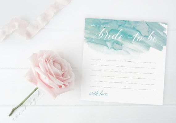 These advice cards are the perfect bridal shower game - and theyll make a sweet keepsake for the bride-to-be! Each guest can write their…