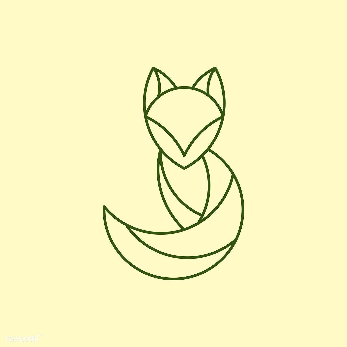 Linear fox geometrical animal vector   free image by rawpixel.com / Aew