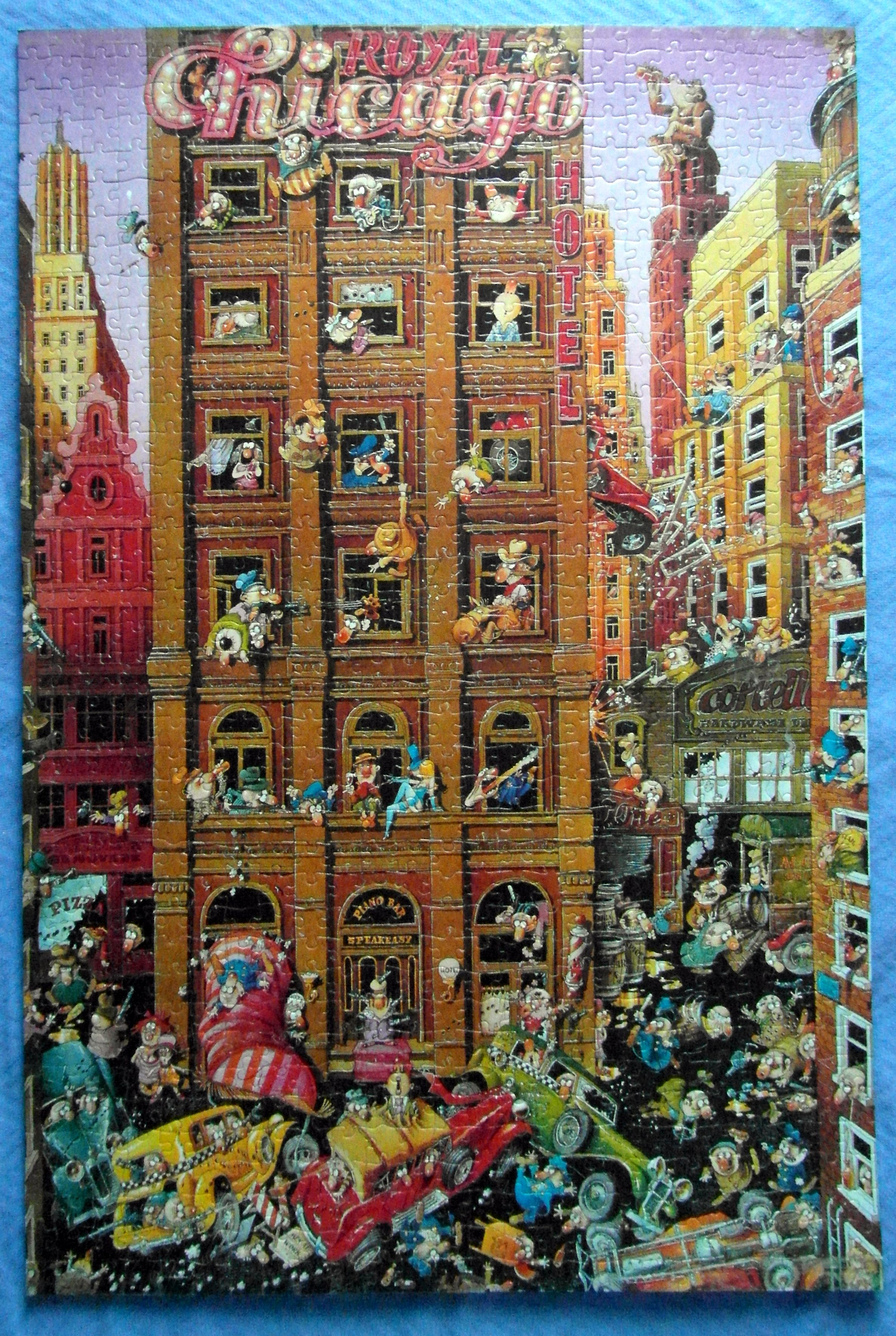 Done Loup S Chicago 1500 Piece Puzzle From Heye 1500 Piece Puzzles Poster Art Puzzle