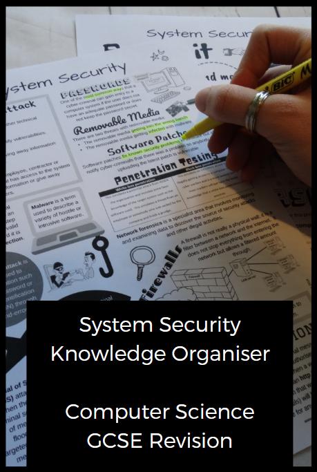 System Security Knowledge Organiser Nicholawilkin Teacher Tools Gcse Computer Science Gcse Science