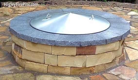 Stainless Steel Conical Dome Fire Pit Cover www ...
