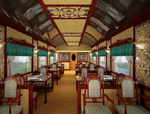 The Maharaja's Express (India) from Luxury Train Club and Train Chartering - Peacock Restaurant