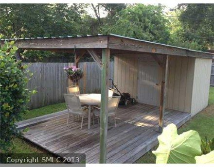Garden Shed Deck Combo Patio Deck Pictures Backyard