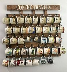 Starbuck Mug You Are Here, fit on this Mug Rack, Coffee cup holder, coffee cup rack, coffee mug rack, coffee mug holder, coffee cup display, rustic coffee sign, pallet wood coffee rack, rack, Laser engraved coffee cup holder, rustic coffee cup rack, kitchen coffee cup holder, wall